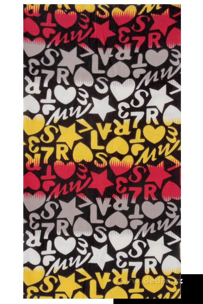 Multifunkční šátekčerno-oranž.-červený
