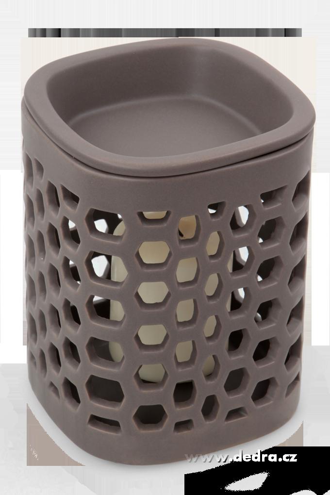 BLOCK - šedohnědá, keramická aromalampa