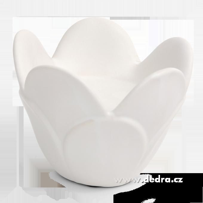 LOTOS - bílý keramický svícen