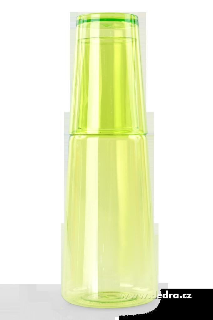 XL karafa s kelímkemjasně zelená