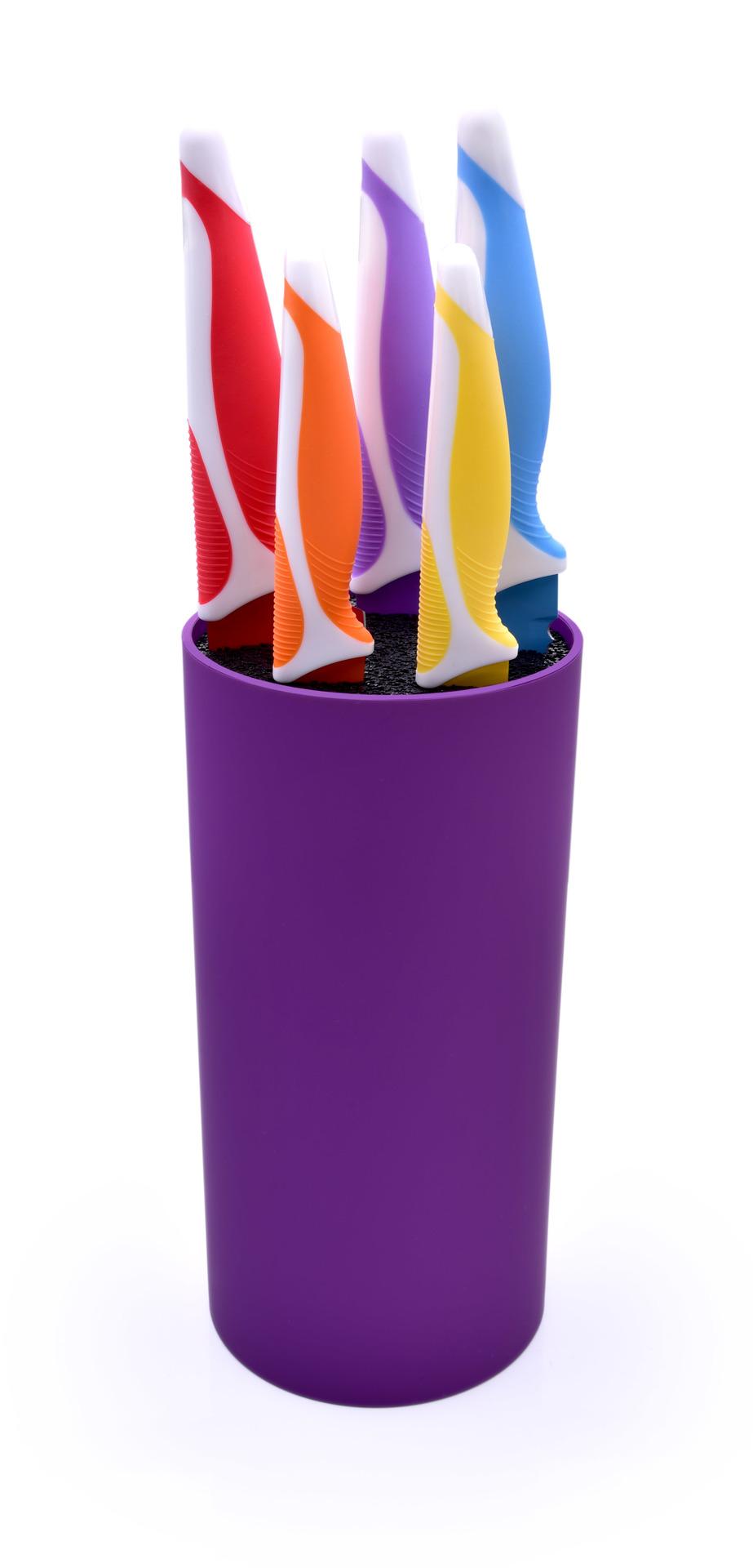 DA72562-Tyčinkové stojan na nože CarboNit fialový