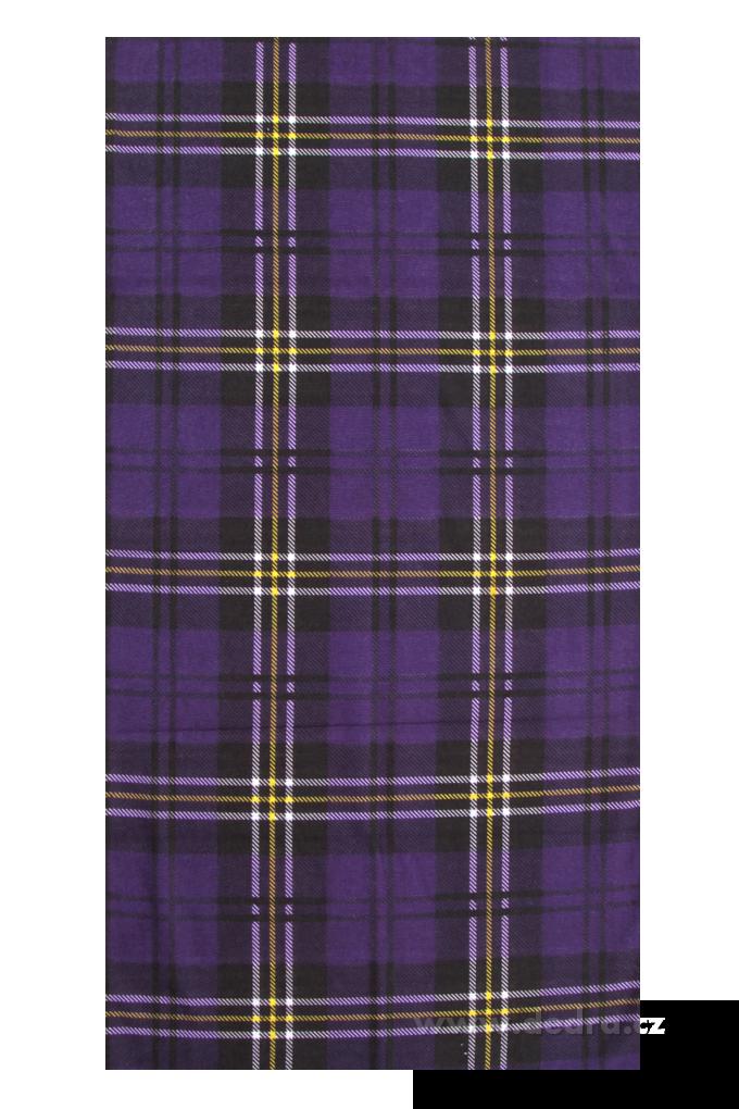 Multifunkční šátek kostkovaný s motivem