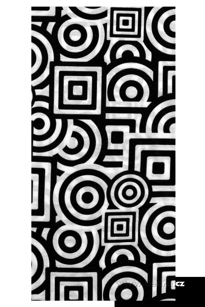 Multifunkční šátek, abstraktní motiv