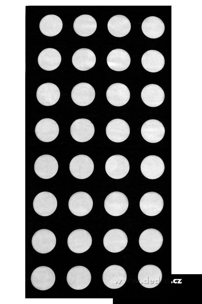 Multifunkční šátekčerný s bílými punt.