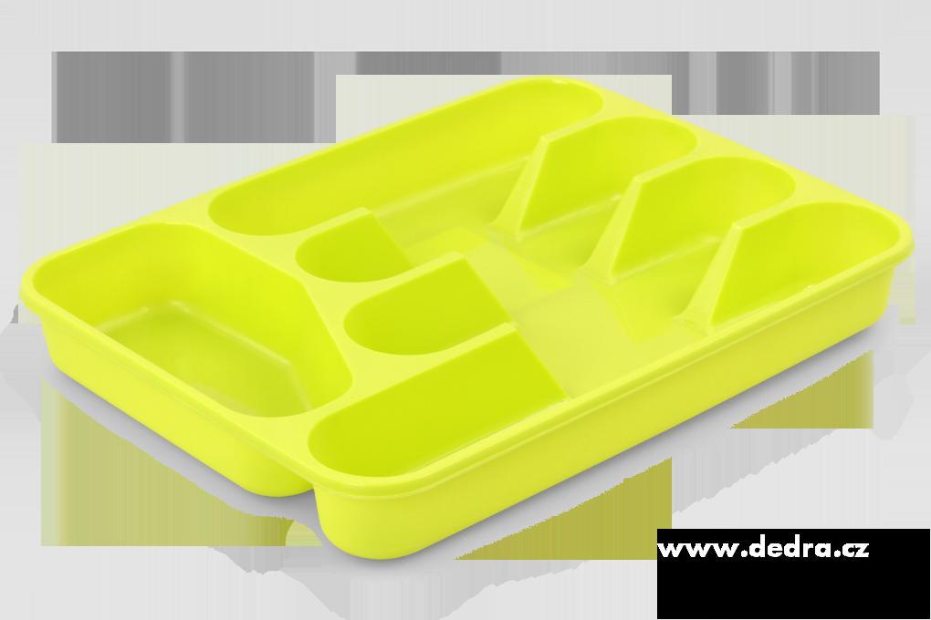 PŘÍBORNÍK z tvrzeného plastu žlutozelený
