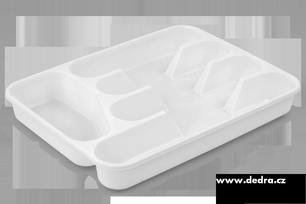 PŘÍBORNÍK z tvrzeného plastu bílý