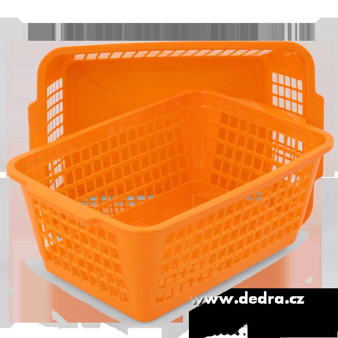 2ks POŘÁDKOKOŠÍK z odolného plastu oranžové