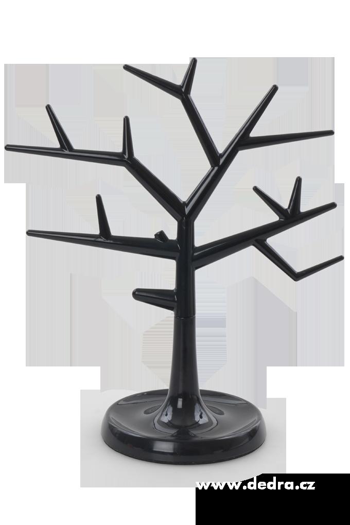 Stojan na šperky STROM černý 31 cm