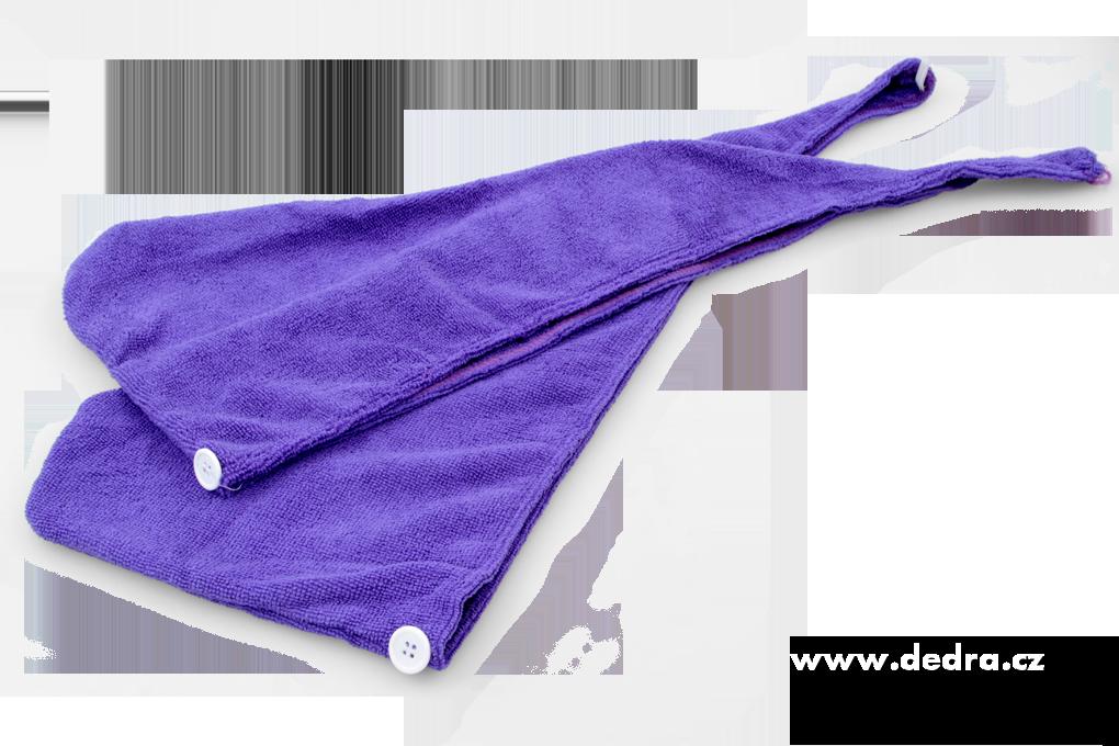 DA72541-2 ks turban na vysúšanie vlasov levanduľový