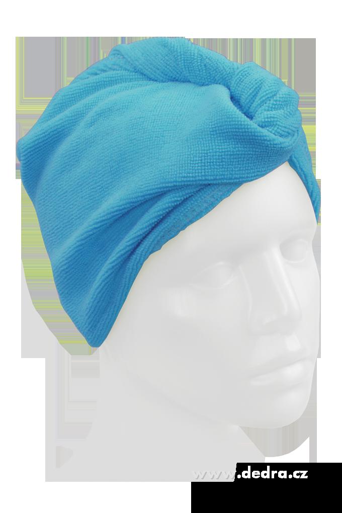2 ks turban na vysoušení vlasů tyrkysový