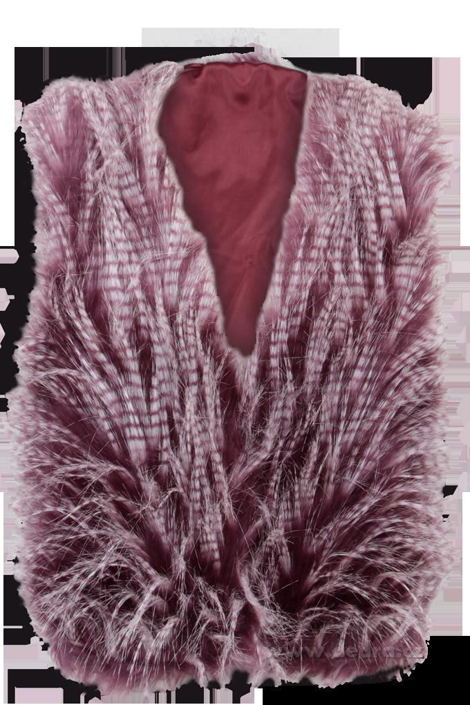 MAUREEN kožešinová, vesta - fialová