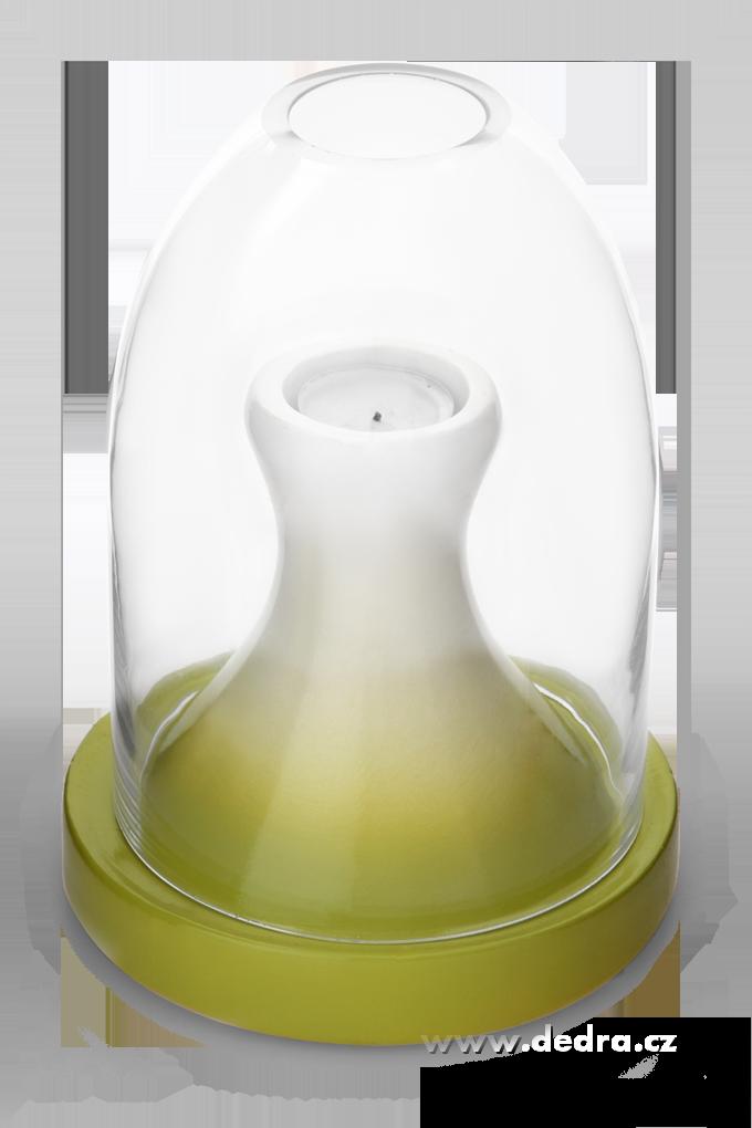 COCOON elegantní svícen-výška 21,5 cm
