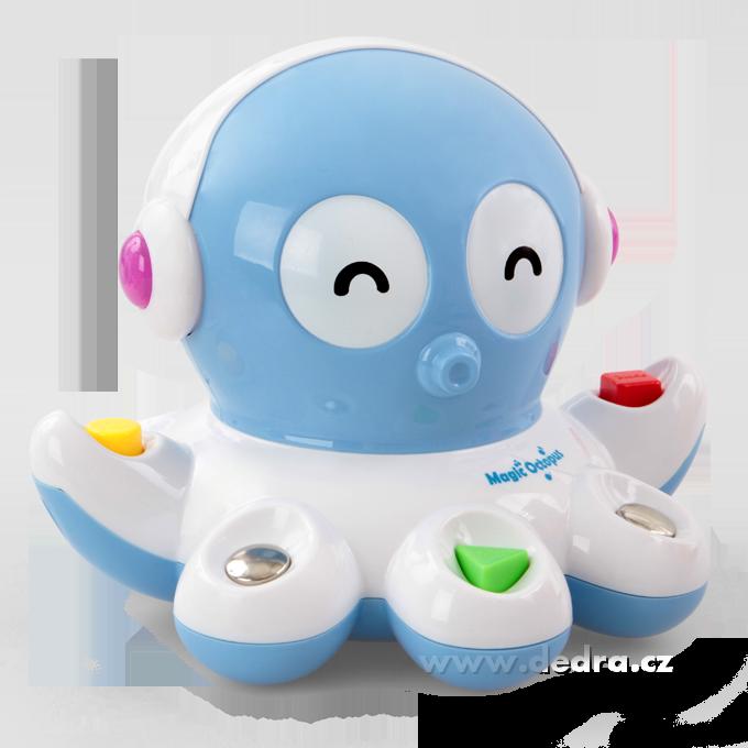 Hravá chobotnička zvuková,svítící a pohyblivá hračka
