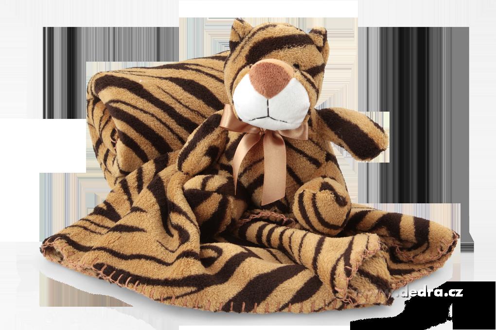 DA73443-LAGOON prikrývka s plyšovým zvieratkom tigrík