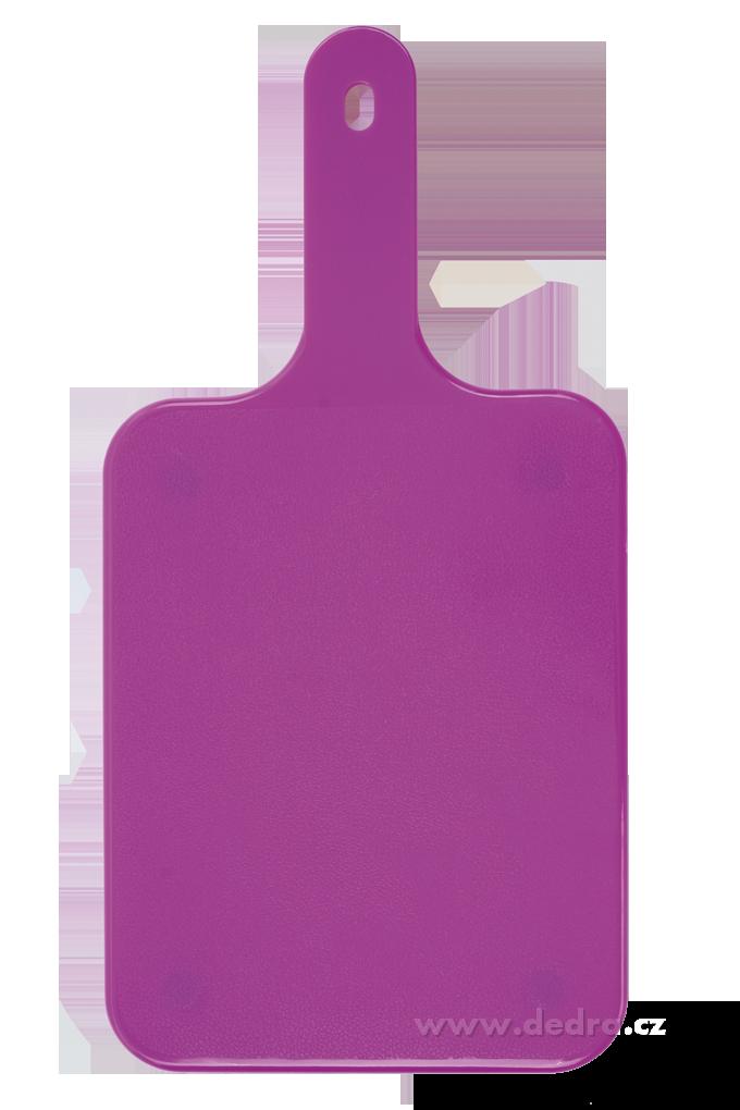 Krájecí prkénko s rukojetí, fialové
