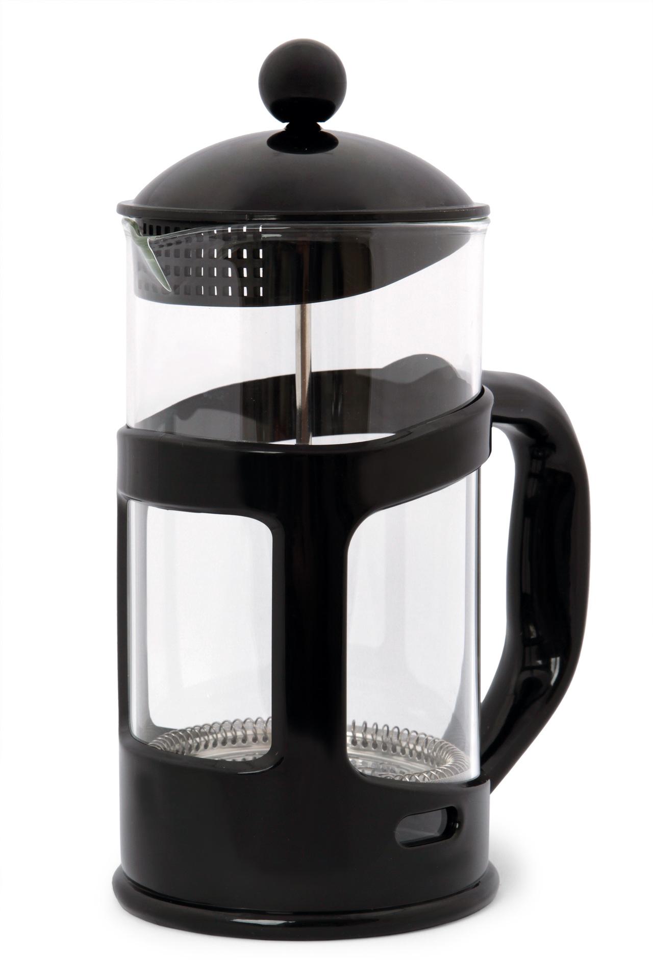 XL FRENCH PRESS konvice na čaj a kávu černá