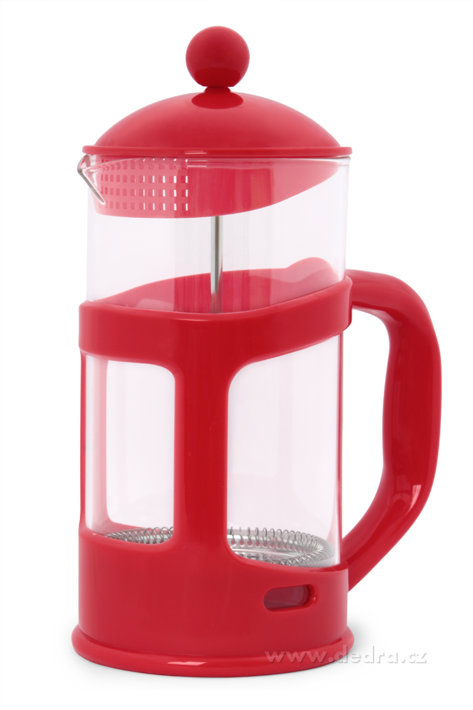 XL FRENCH PRESS, červený