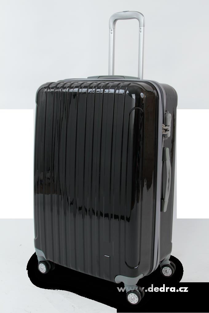 Skořepinový velký kufr,70 x 50 x 30 cm black