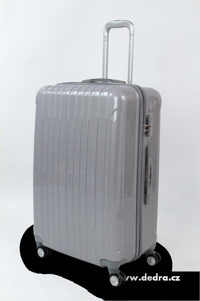 Skořepinový velký kufr,70 x 50 x 30 cm silver