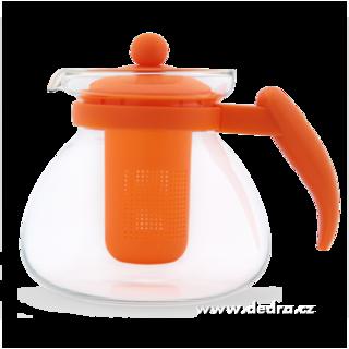 Czajnik szklany,, pomarañczowy, 1500 ml