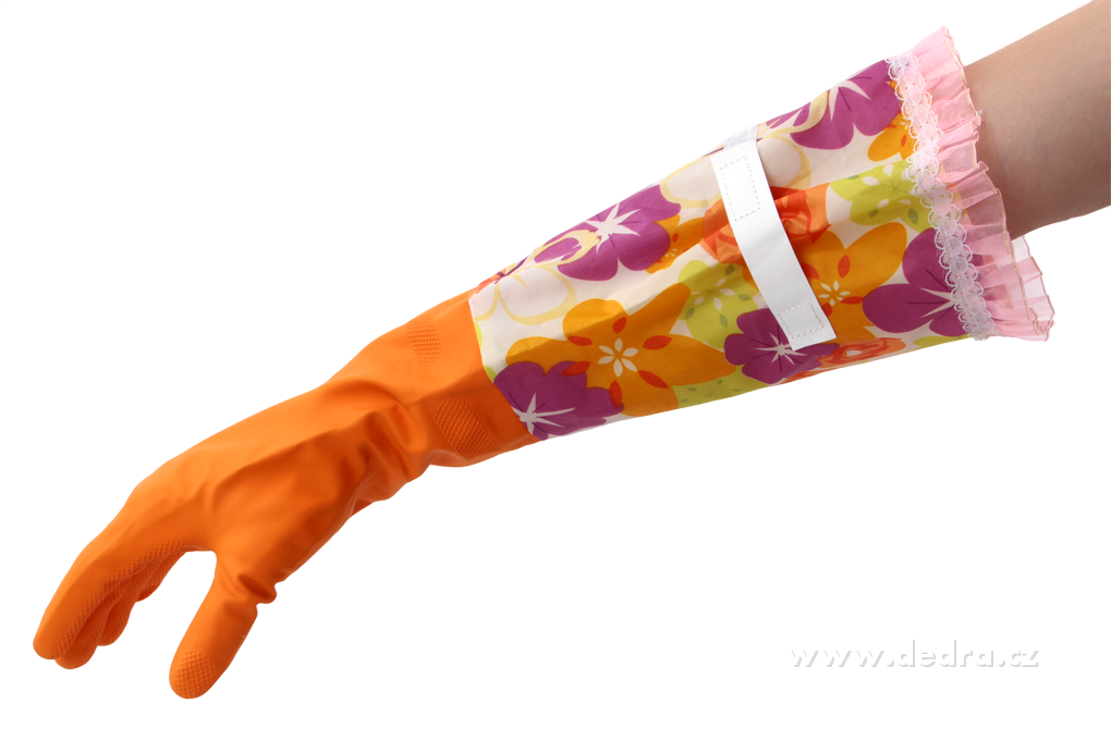 DA7508-FUNNY dlhé upratovacie rukavice