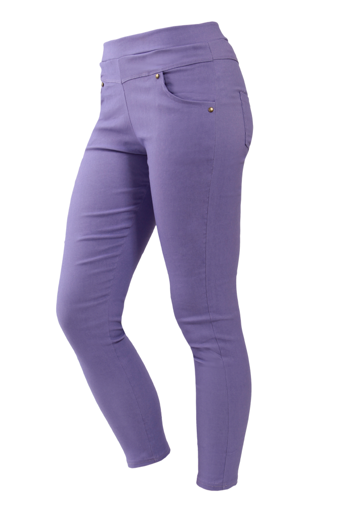 NADIA elastické kalhoty levandulové velikost M/L