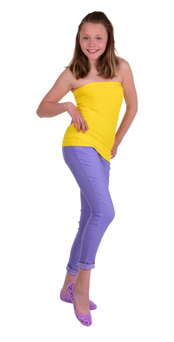 FC75398-Marianne 2v1 minisukne alebo top žltá
