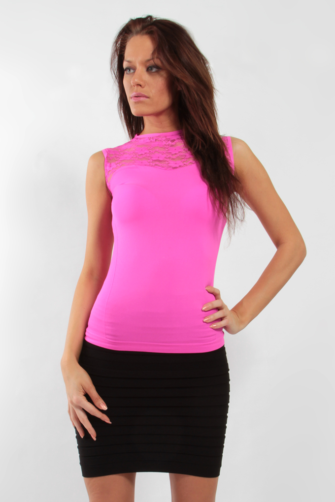 FC75923-VIRGINIE pink tielko / top