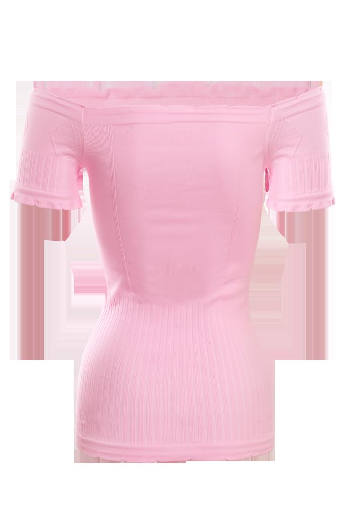 FC75934-YVETTE top s rukávmi, ružový