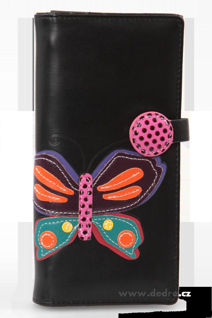 Dámská peněženka, s aplikací motýla