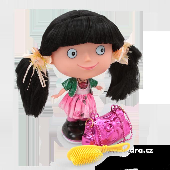 Mluvící panenka SANDRA s černými vlásky