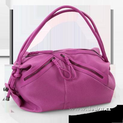 JASMINE velká elegantní kabelka fialková