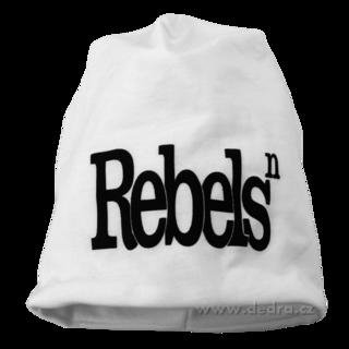 08771e0e659 REBELS čepice obvod 56 cm bílá s černým - Vaše DEDRA - oficiální stránky