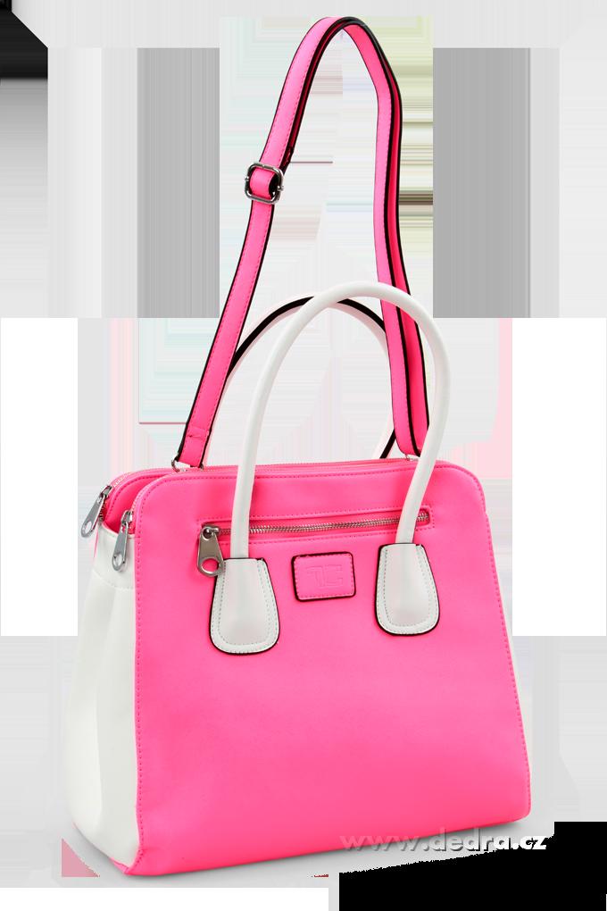 CADIE kabelka z ekokůže neonově růžová