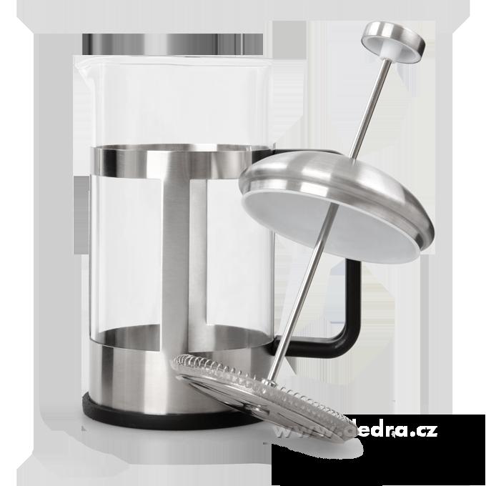 DA73697-XL FRENCH PRESS kanvica na čaj a kávu nerez