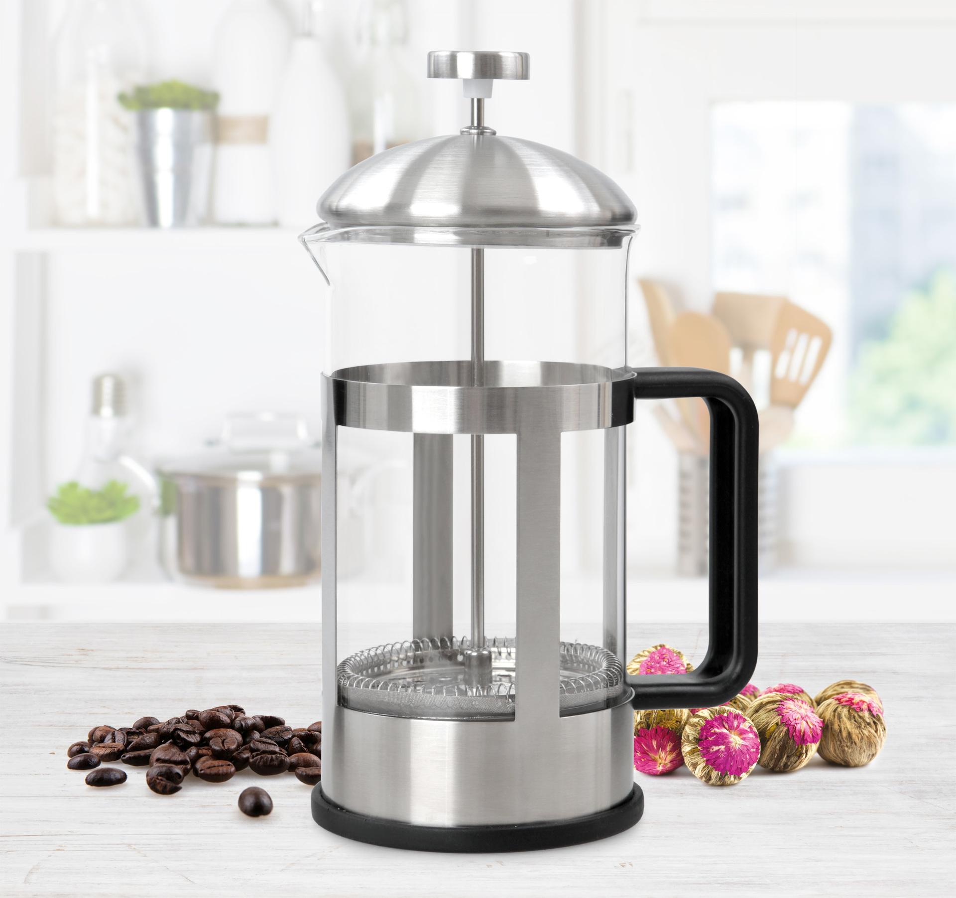 XL FRENCH PRESS konvice na čaj a kávu nerez
