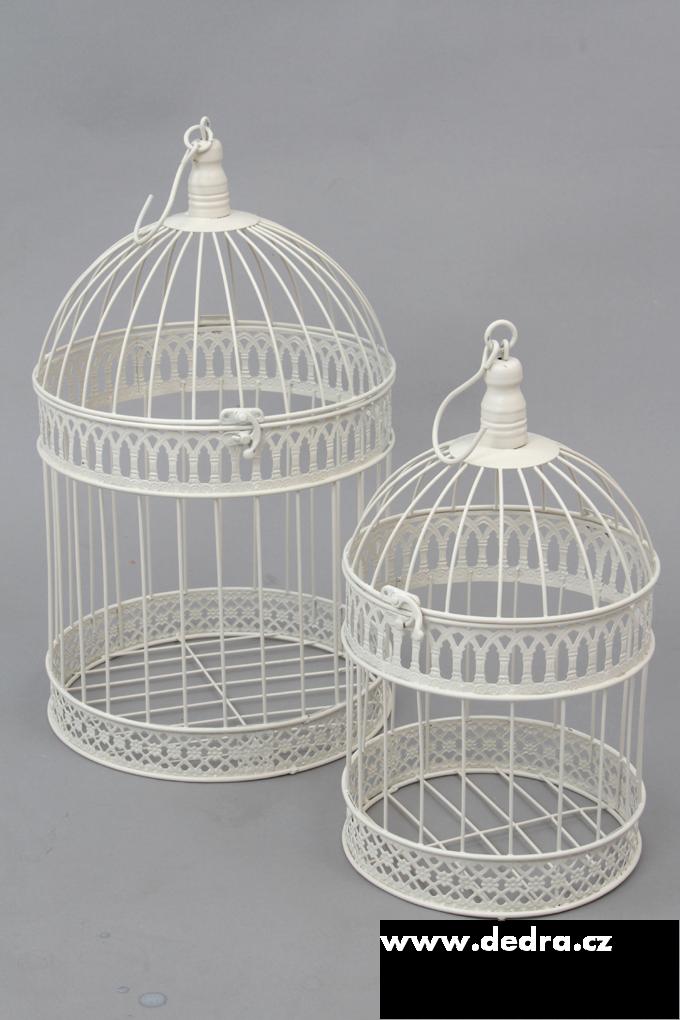 2ks kovová klec dekorativní průměr 25 a 19 cm