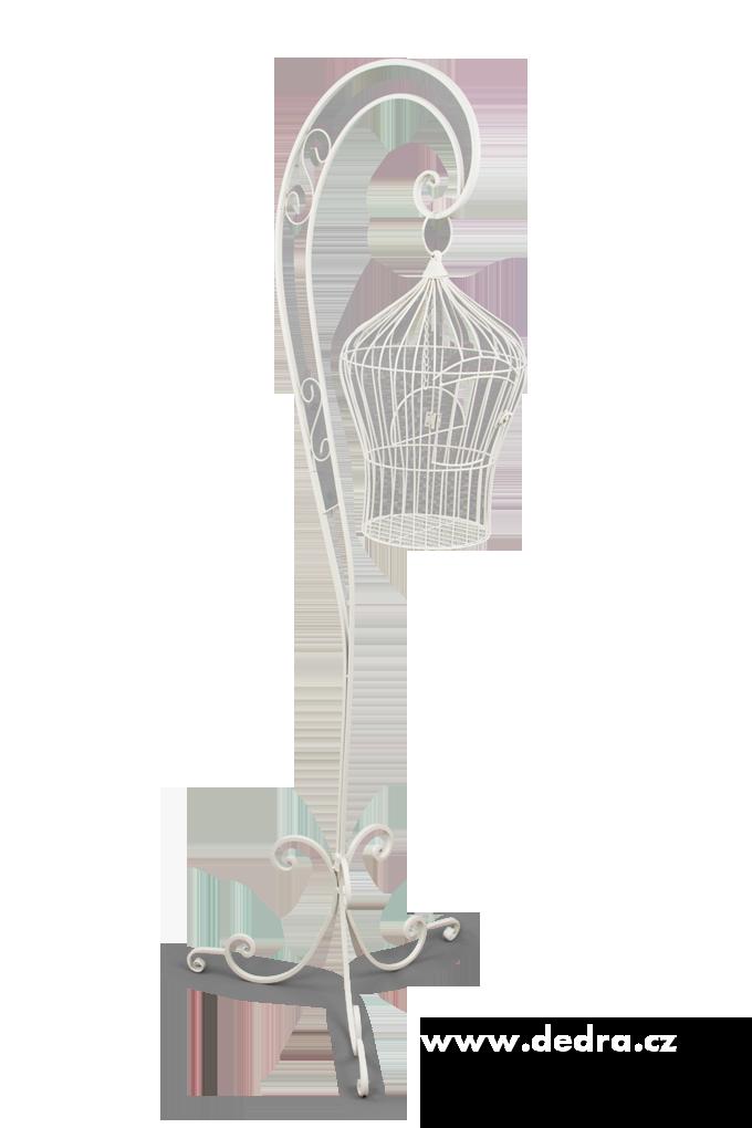 Kovová dekorativní klec na orig.stojanu prům.29cm,výš.171cm