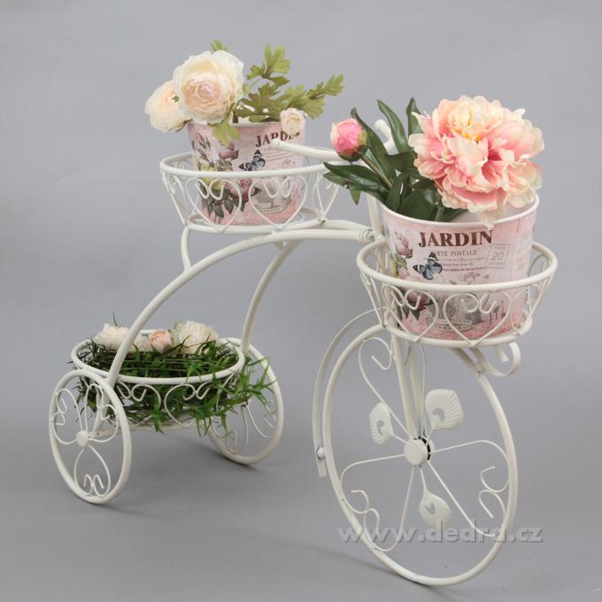 BICYKL XXL stojan na květiny, kovová dekorace