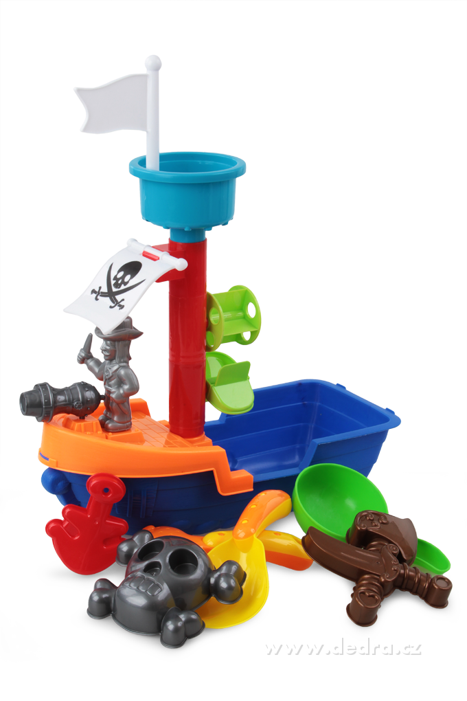 Pirátská loď XXL, 8 dílný set