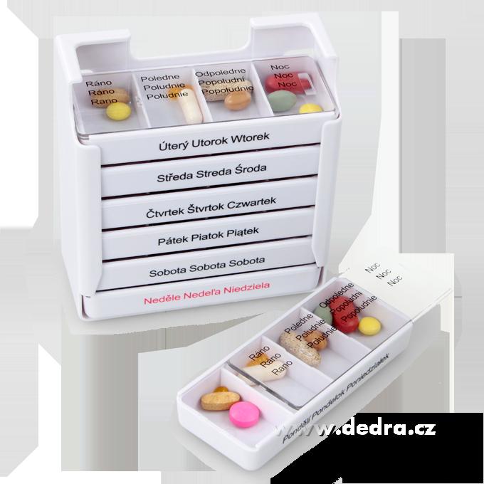 DA7866-Týždenný zásobník na lieky, profesionálny