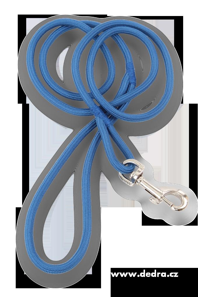 Antishock vodítko pro psa, prům.6 mm modré