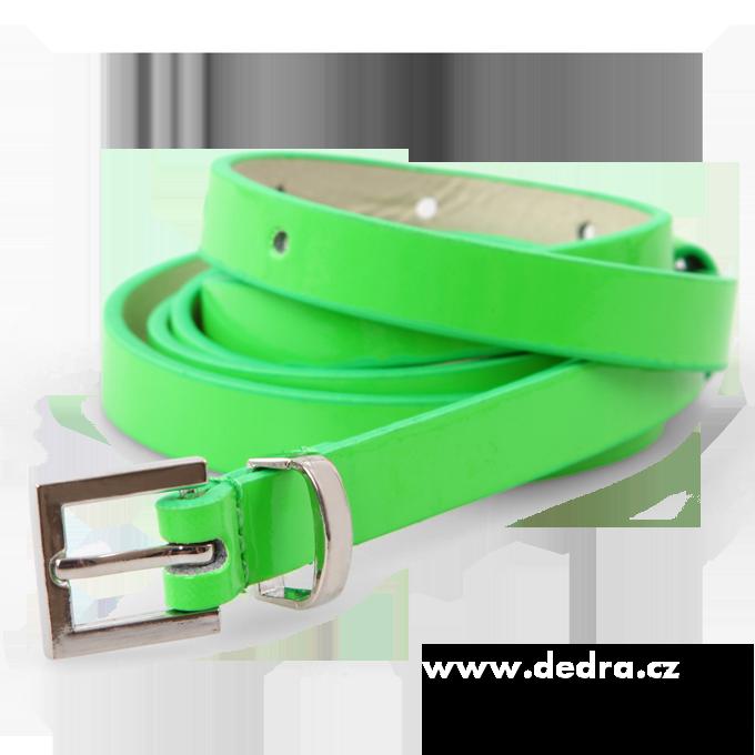 Úzký dámský pásek neonově zelený