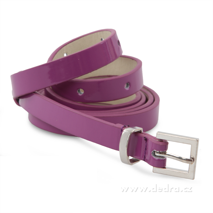 Úzký dámský pásek, levandulový