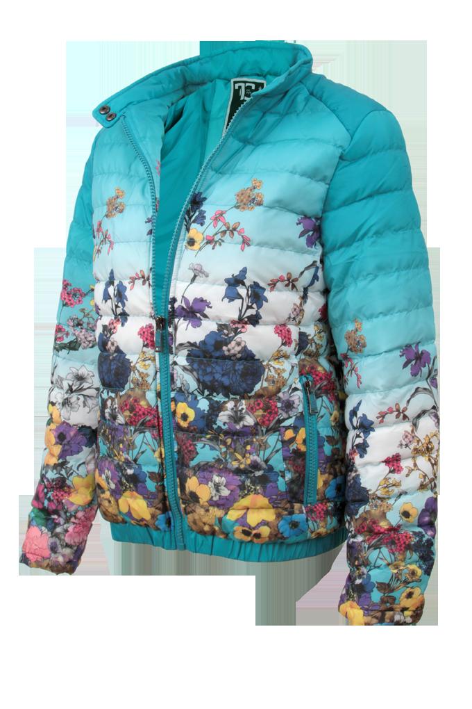FLORELLE bunda dámská prošívaná blue velikost L