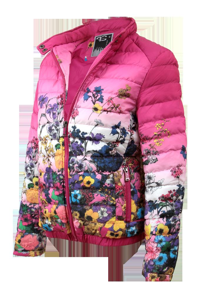 FLORELLE bunda dámská prošívaná fuchsia velikost L