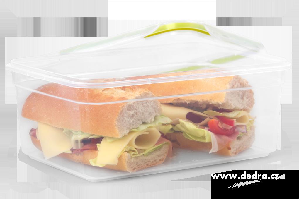 CVAK&CVAK dóza  na potraviny 2200 ml se silikonovým těsněním