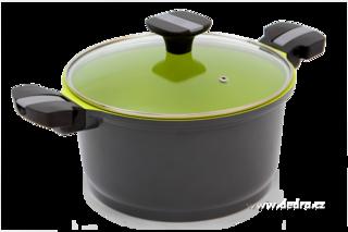 Garnek BIOPAN casserole ze szklan± pokrywk±  24 cm objêto¶æ 5 l