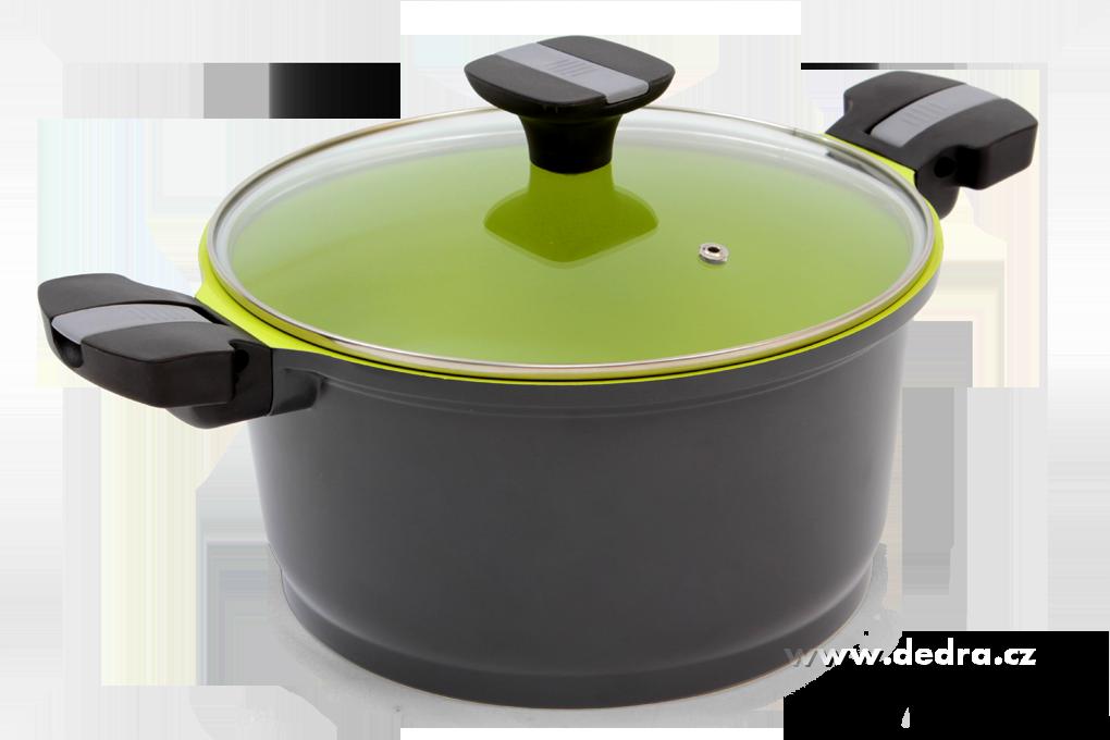 BIOPAN casserole 5 litrů, nepřilnavý,  se skleněnou poklicí Ø 24 cm, odnímatelné rukojeti