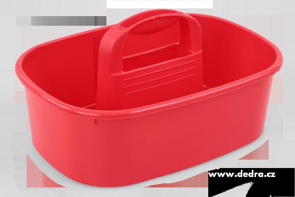 VODNESÚKLID nosič na úklid. prostředky červený